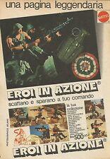 X9771 Eroi in azione MATTEL - Pubblicità 1975 - Advertising