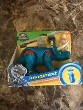 New Imaginext Jurassic Park World Dr. Sattler Figure W/ Triceratops Dinosaur