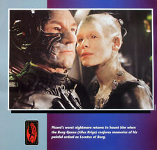 STAR TREK POSTER PAGE FIRST CONTACT CAPTAIN JEAN-LUC PICARD THE BORG QUEEN .8S8