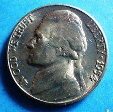 1954-S BU Jefferson Nickel  nice coin