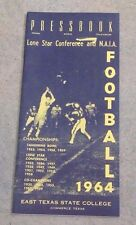 EAST TEXAS STATE UNIVERSITY - COLLEGE FOOTBALL MEDIA GUIDE - 1964