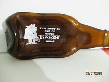 "Vintage Beer Bottle Ashtray ""This Must Be One Of Those Depressed Areas"""