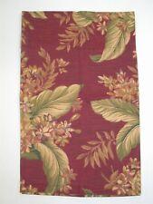 "(1) Rod Pocket Floral Valance ~ Brick Green Ivory Gold ~ 20"" L x 53"" W"