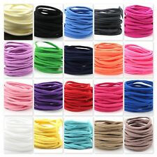 Soft Skinny Stretchy Nylon Headbands One Size Fits All - Lots of 5