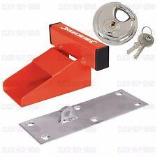 HEAVY DUTY GARAGE LOCK 150 MM SOLID STEEL DOOR DEFENDER & 70 MM DISC PADLOCK