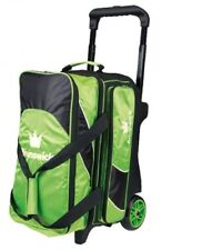 Brunswick EDGE Premium 2 Ball Roller Bowling Bag 5-Inch Wheels Color Green