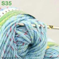 Sale New 1Ball X 50g Chunky Worsted Soft Warm Wool Velvet Hand Knitting Yarn S35