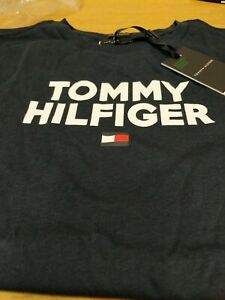 Tommy Hilfiger Logo T Shirt Navy Blue Boys 11_12 Yrs New Ref G2