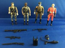 Lot Of 4 Mego Eagle Force Figures with Weapons Vintage 1980s Die Cast Metal