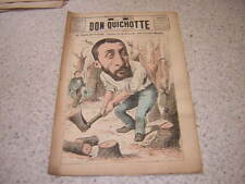 1886.Don Quichotte caricature.Fernand Faure Gironde