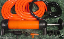 GAS SIPHON PUMP and INFLATOR Transfer fuel oil water Includes ADAPTERS and HOSES