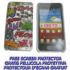 Pellicola+custodia BACK COVER ONOMATOPEA per Samsung I9070 Galaxy s Advance