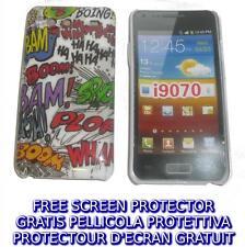 Pellicola+custodia BACK COVER ONOMATOPEA per Samsung I9070 Galaxy s Advance