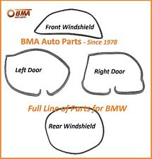 BMW E10 1600 2002 2002tii 4 Piece Seal Kit - 2 Doors & Front & Rear Windshields