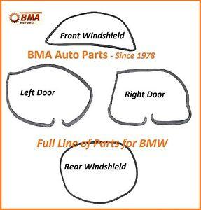 BMW E10 1600 2002 2002tii 4 Piece Seal Kit - 2 Doors & Front & Rear Windshields