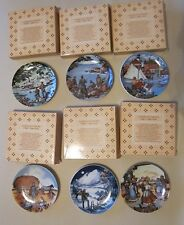 6 Avon American Portraits Plate Collection, New in Boxes