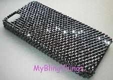 Black JET HEMATITE Crystal Bling Back Case for iPhone 5 5S w/ Swarovski Elements