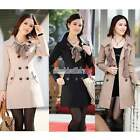 NEW Fashion Coat Women's Cotton Blend Double-breasted Trench Coat / Jacket