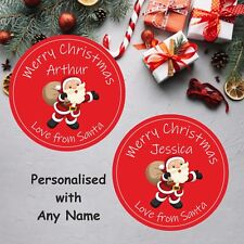 Personalised Christmas Stickers,From Santa Ideal For Girls or Boys Presents Gift