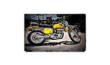 1975 Maico 501 Bike Motorcycle A4 Retro Metal Sign Aluminium