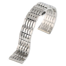 9 Rows 20/22/24mm Solid Stainless Steel Band Wrist Watch Replace 2 Spring Bars