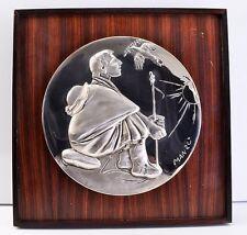 Giacomo Manzù Limited Edition Sterling Silver Relief Catholic Saint Framed