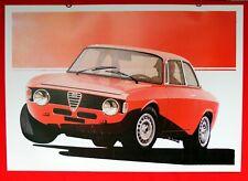 Alfa Romeo Giulia GTA 1600 1965 GTA Junior 1300 1968 Alleggerita Vintage Print