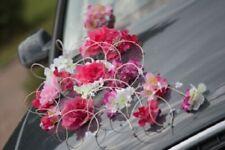 Roma Hochzeit Auto Dekoration Band Schleifen Ball Limousine Pink Slub