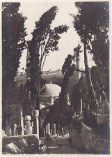 Turquie Constantinople Cimetière Eyoub Photographie n2 Vintage Argentique 1919