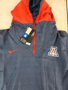 NEW Arizona Wildcats Nike On Field 1/4 Zip Pullover Hoodie Jacket -Men's Large