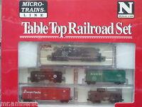 Santa Fe Atlas GP-7 #2696 N Scale Micro-Trains Table Top Set NIB