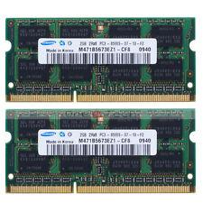 Samsung 4GB 2x2GB RAM DDR3-1066MHz PC3-8500 PC8500S 204pin SoDimm Laptop Memory