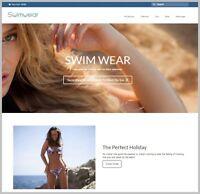 SWIMWEAR Dropshipping Website FREE Domain|Hosting|Traffic WEBSITE