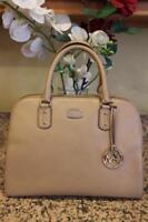 Michael Kors Sandrine Dark Khaki Leather Large Satchel Bag (pu500