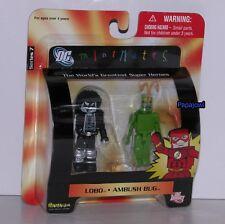 DC Direct Mini Mates Lobo And Ambush Bug 2 Pack Art Asylum Series 7 .