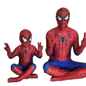 Kid Boys Spiderman Superhero Fancy Dress Cosplay Costume Outfits Party Set 3-11Y