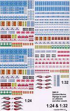 Becc Standard Marine Signage Vinyl Decals Scale 1:24-32