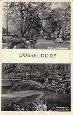 SELTEN 2 Bild Foto AK DÜSSELDORF Blick durch die Königsallee+Oldtimer@30er Jahre