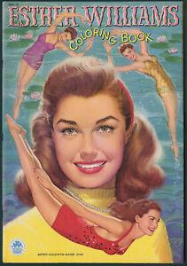 "UNCOLORED ""Esther Williams Coloring Book"" #1591 Merrill 1950 (7321)"