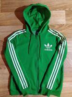 Adidas Originals Mens Hoodie Tracksuit Top Jacket Hooded Green White Hype Stripe