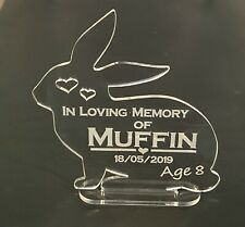 Personalised Engraved Rabbit Pet Memorial Keepsake, Grave Mark Loving Memory
