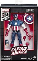 Hasbro Marvel Legends 80th 80 Years Captain America Action Figure Brand New