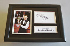 Stephen Hendry Signed A4 Photo Framed Display Memorabilia Snooker Autograph +COA