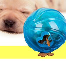 Funny Pet Dog Treat Trainning Ball Chew Sound Food Dispenser Feeding Toy Squeaky