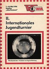 07.-10.05.1986 1. FC Union Berlin, Gwardia Warschau, Inter Bratislava, Krakow...