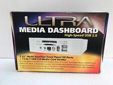 "Ultra MD2 5.25"" Media Dashboard 4 Port USB 2.0 PLUS 6-1 Media Card Reader NEW"