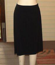 BISOU BISOU Straight Black Skirt w/Full Zipper~Size 12~Ruched Upper Back~NWT
