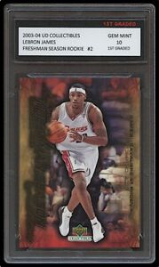 LEBRON JAMES 2003-04 UPPER DECK #2 1ST GRADED 10 ROOKIE CARD LAKERS/CAVALIERS