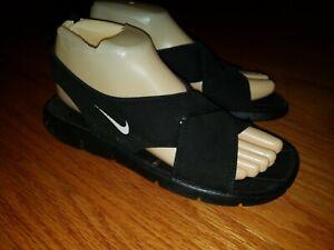 Nike Black Neoprene Sandals 314616-011 Youth Size 6