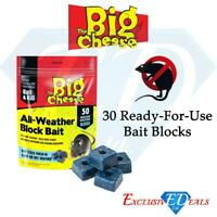 The Big Cheese All Weather Block Bait Rat Mouse Rodent Poison Killer Home House